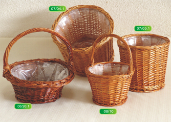 Basket with nylon